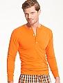 BRUNO BANANI Cotton Coloured Langarmshirt mit Knopfleiste