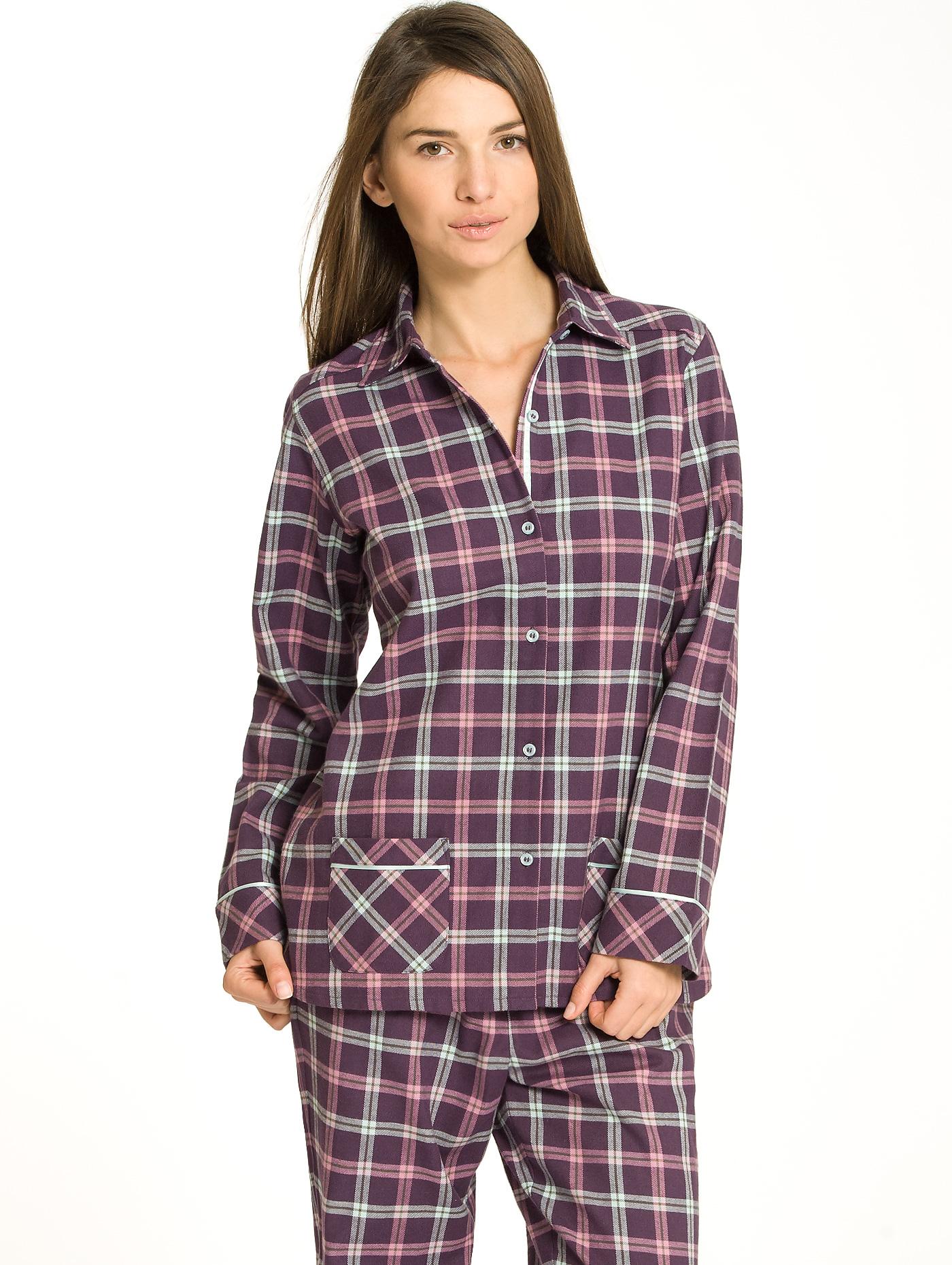flanell pyjama damen bei karstadt online kaufen. Black Bedroom Furniture Sets. Home Design Ideas